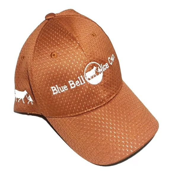 Other - Blue Bell Ice Cream Embroidered Hat Burnt Orange